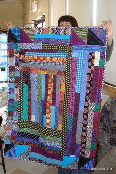 Sue's bold strip quilt | Flickr - Photo Sharing!
