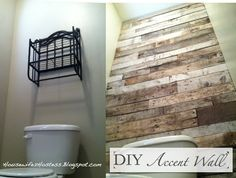 old barn wood pallet wood accent wall - Google Search