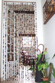 Curtains Made of Buttons