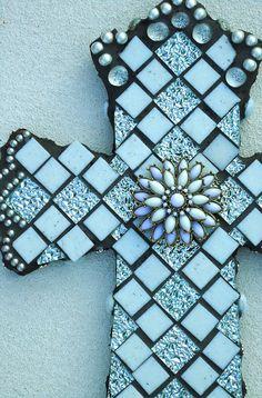 Mosaic Cross  Redeemer by BrokenBeautyMosaics on Etsy, $275.00