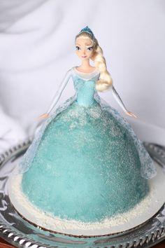 birthday parti, frozen elsa cake, girls birthday ideas and cakes, doll cake, frozen party cake