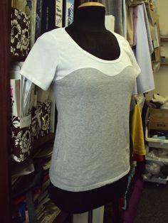DIY: bustier line t-shirt