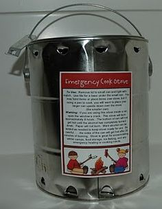 Emergency cook stove from a paint can