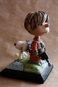 Charlie Brown meets Luke Skywalker