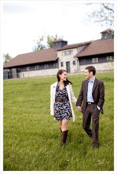 Shea Mitchell & Julien R Leparoux's engagement photos at Keeneland.