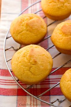 Perfect Cornbread Muffins by @Anna Totten | Crunchy Creamy Sweet