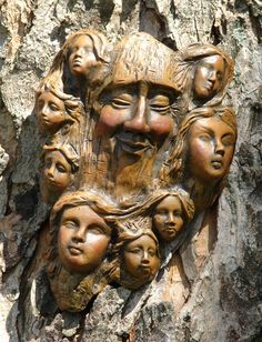 family trees, tree art, tree spirit, woodcarv, amaz tree