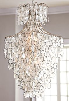 decor, idea, dream, chandeliers, drip capiz, capiz chandeli, hous, light, design