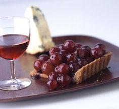 Port-Glazed Grape Tarts with Pecan Crust Recipe  at Epicurious.com