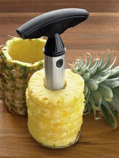 Create fresh pineapple rings in minutes with this convenient slicer that removes all the fruit—leaving the shell undamaged in case you want to use it as a luau-inspired container for food or drink. Williams-Sonoma Pineapple Easy Slicer, $19.95;