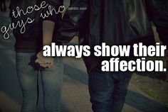 Always show their affection