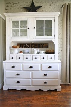 buy a house, hutch decorating ideas, china cabinets, design trends, beauti cabinet, contemporari farmhous, hous tour, farmhous hous, kitchen designs
