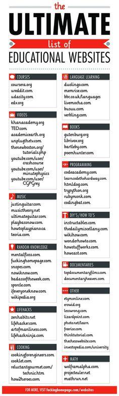 cool educational websites list #education #learn #mooc