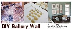 DIY wall art using Sea Shells from Sand and Sisal. Featured on Today's Creative Blog