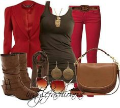 Red and brown
