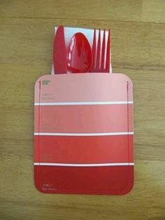 paint party silverware idea with @Valspar Paint Paint Paint Paint chips of course!