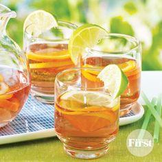 Refreshing Lemon Sunset Iced Tea