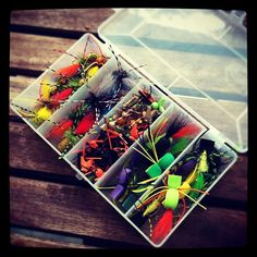 Three dozen flies arrived from J Flies.  Best $70 I've spent lately.  #warmwaterready - @thefiberglassmanifesto- #webstagram