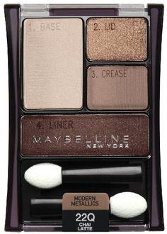 Maybelline New York Expert Wear Eyeshadow Quads, Chai Latte 22q, 0.17 Ounce $4.49 #Beauty  #Maybelline