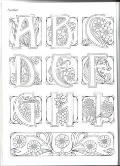 Art Nouveau Alphabet ~ This may be from Judy Balchin's' book - 1 of 3