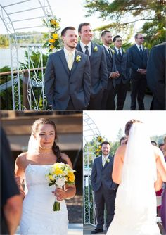 walking down the aisle, first look | Green Vintage Photography