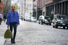 nima ford model from new york | ... Model Ni'ma Ford at Spring Street and Crosby Street of New York City