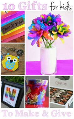 Home made gift ideas for kids - ideal as teacher gifts, or any kind of thank you gift