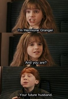 Ron and Hermione!