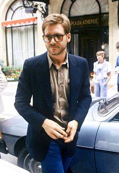 Harrison Ford at HôtelPlaza Athénée, Paris, 1980.