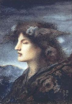 Most glorious night! Thou wert not sent for slumber! ~ Lord Byron, Childe Harold (painting: Sleep,1894 - Simeon Solomon)