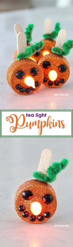 Tea Light Pumpkins -
