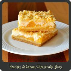 Peaches & Cream Cheesecake Bars