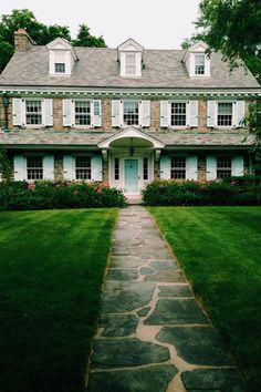 dream houses, mint detail, stone houses