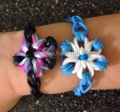"Created this Flower Bracelet by using... ""Made By Mommy's Mini Cross Band Charm"" Tutorial"