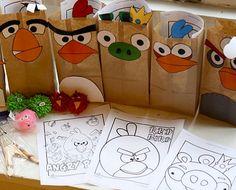 ideas cumpleaños angry birds bolsas