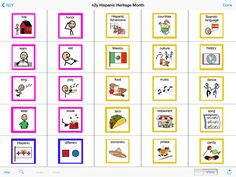 The N2Y 'Hispanic Heritage Month' board is now ready for use and available for you in the MyTalk Submissions Library.  Get it in Workspace or in Mobile [edit / board / Library Board Search / tap in the search box, select the 'submissions' tab and type n2y ]