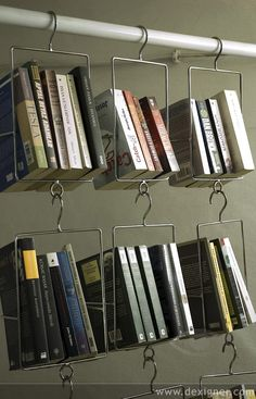 wire hangers for books