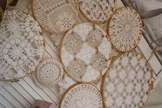 doili art, vintage lace, luv lace, craft idea