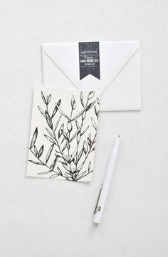 / SOHO House Stamp and Olive Branch Card / Paper & Type