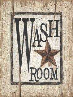 primitive home decor | Country Primitive Wash Room by Linda Spivey