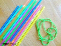 Fiber Flux makes bracelets out of straws and yarn. A great summer activity for the kids. Using your leftover scrap yarn or try it in our mini skeins of Bonbons and Vanna's Palettes.
