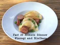 A 20 minute one pot dinner rich with flavor sure to appeal to everyone at the table. #pierogi #20minutemeal #quickdinner