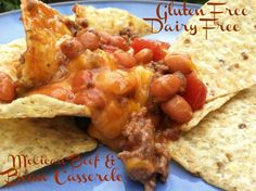 Mexican Beef & Bean Casserole (over chips or in tortillas)