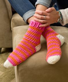 Cozy at Home Crochet Socks: free pattern