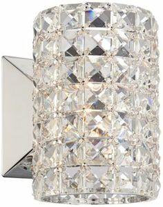 Crystal Cylinder Halogen Vienna Full Spectrum Wall Sconce - @EuroStyleLighting