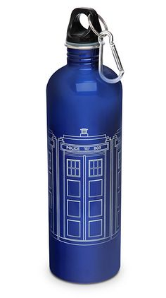 ThinkGeek :: Doctor Who TARDIS Water Bottle