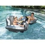 Excalibur PR11BK-2-FP Motorized Bumper Boat with Squirt Gun and Foot Pump/Black. Give your child his own Bumper Boat, complete with jumbo-sized squirt gun. Cruise the pool going forward,