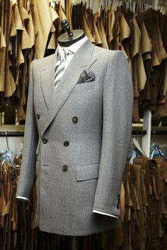 Bespoke double breasted grey blazer