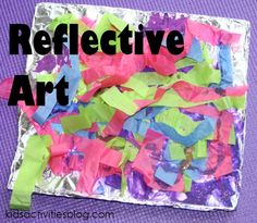 tin foil collage - aluminum foil craft finished