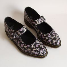 Doc Martens Grunge Floral Mary Janes